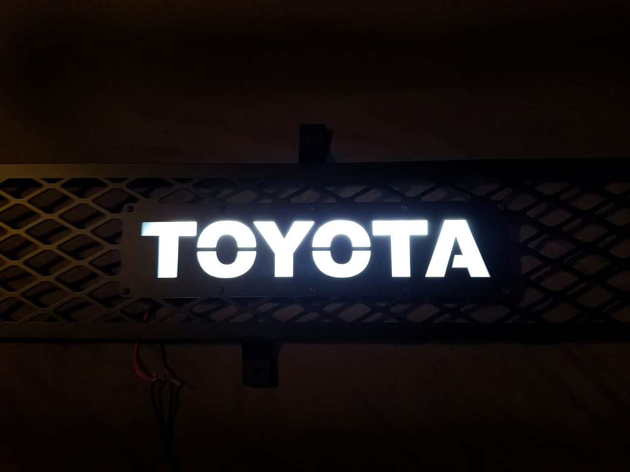 Matte Green 4runner >> Toyota FJ Cruiser LED backlit grille | RESZ Fabrication